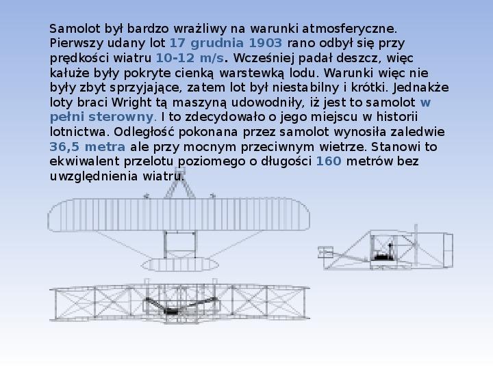 Bracia Wright Samolot - Slajd 6