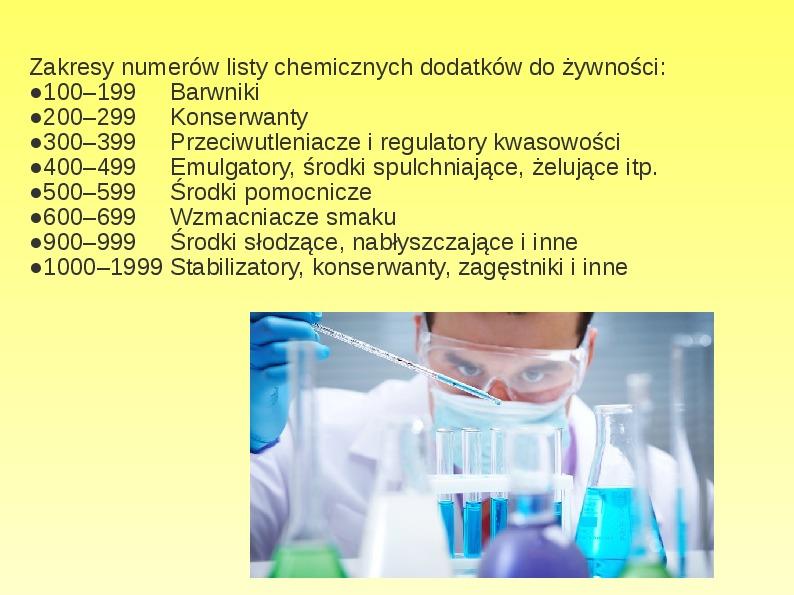 Chemiczne dodatki do żywności - Slajd 2