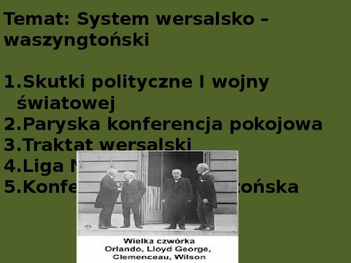 System wersalsko waszyngtoński - Slajd 0