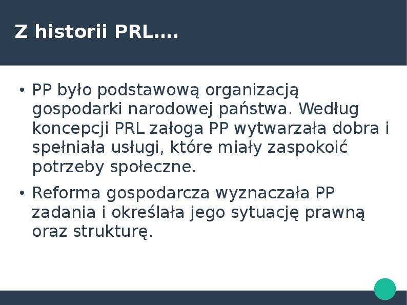 Przedsiębiorca w kontekście przedsiębiorstawa państwowego i działalności gospodarczej - Slajd 27