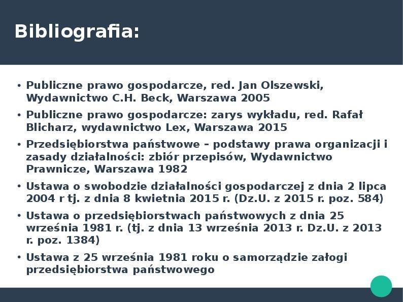 Przedsiębiorca w kontekście przedsiębiorstawa państwowego i działalności gospodarczej - Slajd 29