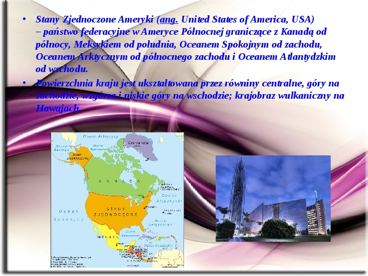 Stany zjednoczone (USA) - Slajd 3