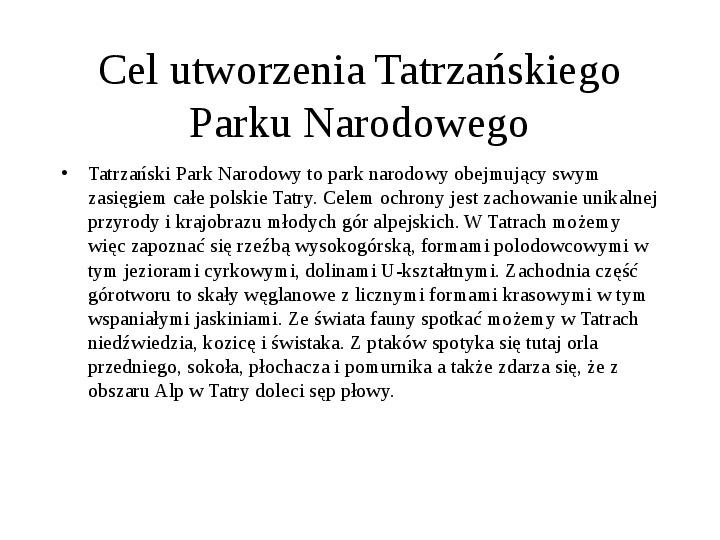 Tatrzański Park Narodowy - Slajd 24