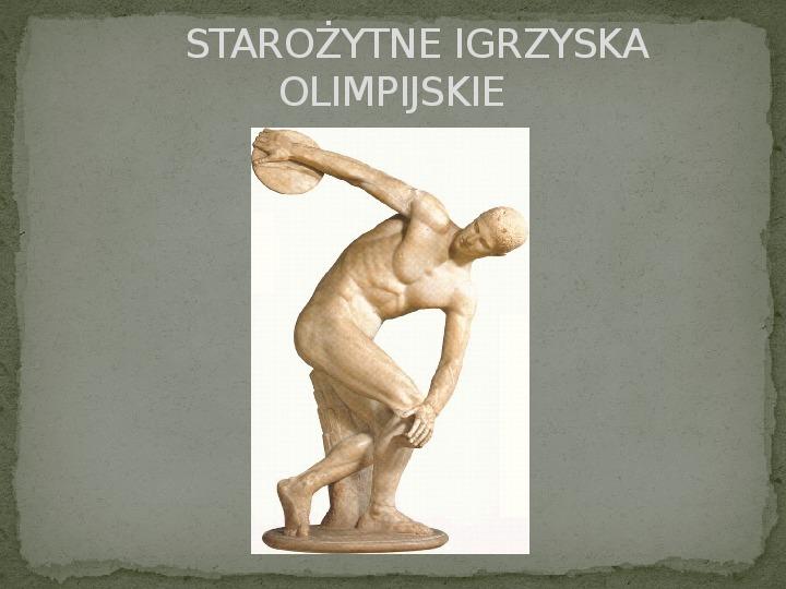 Igrzyska Olimpijskie - Slajd 1