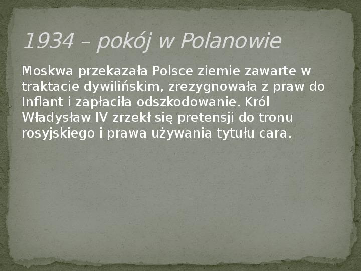Wojny polsko-rosyjskie w XVII w. - Slajd 8
