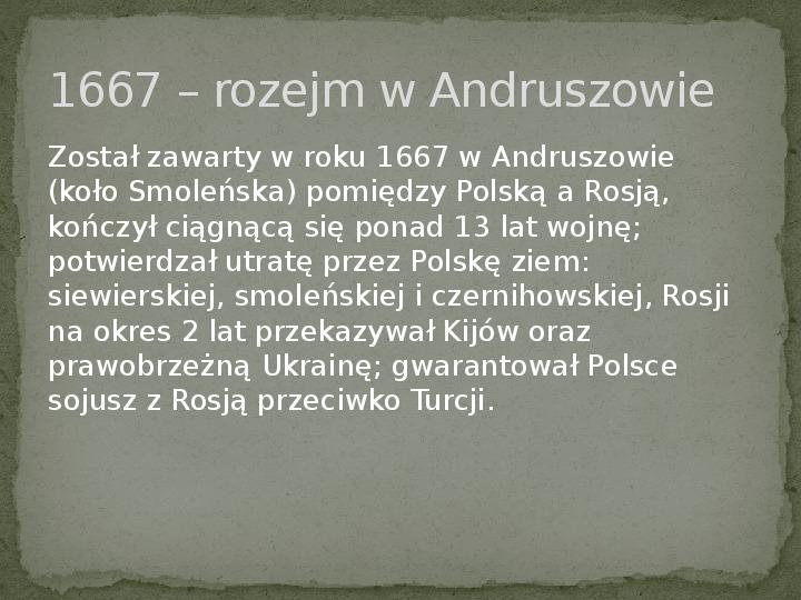 Wojny polsko-rosyjskie w XVII w. - Slajd 10