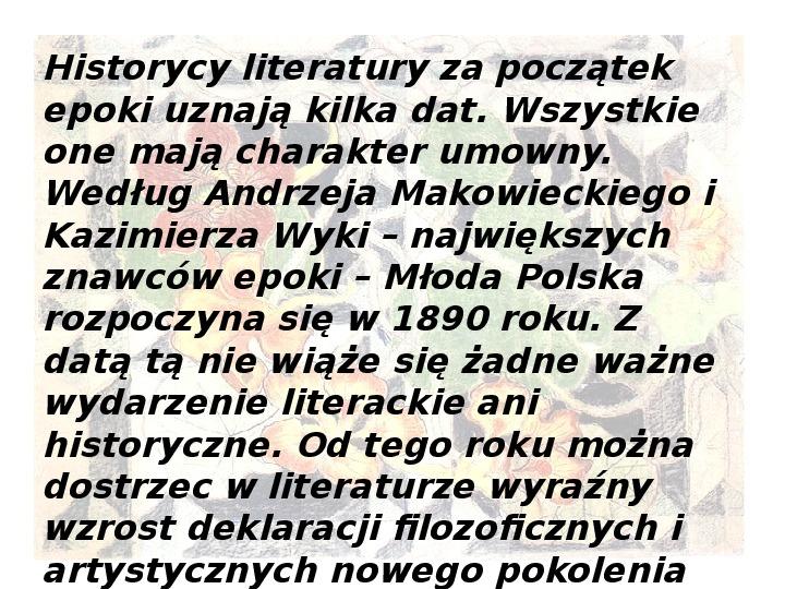 Młoda Polska - Slajd 2