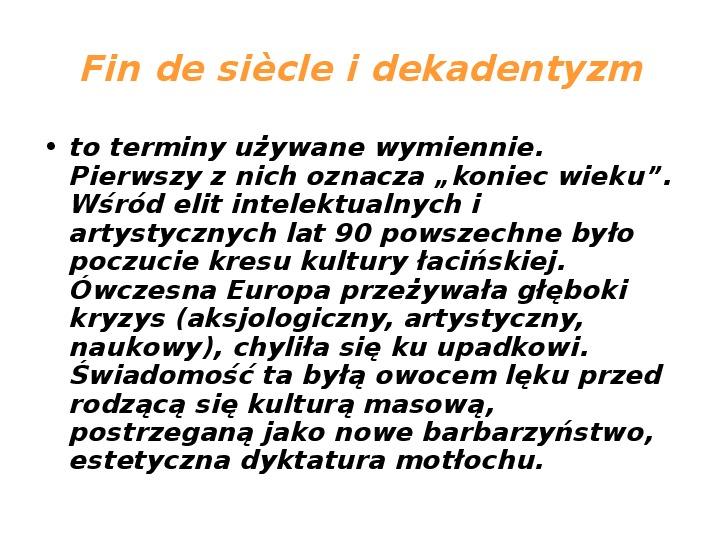 Młoda Polska - Slajd 12