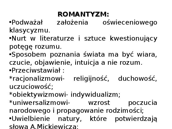 Romantyzm - Slajd 6