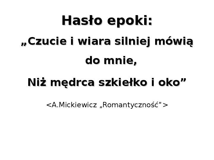 Romantyzm - Slajd 7