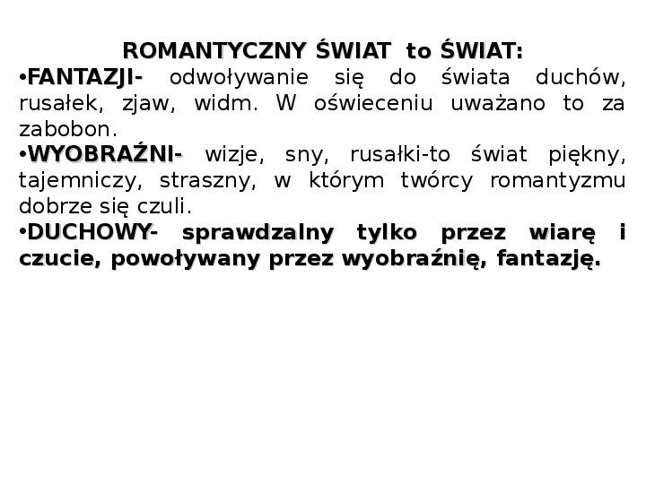 Romantyzm - Slajd 13