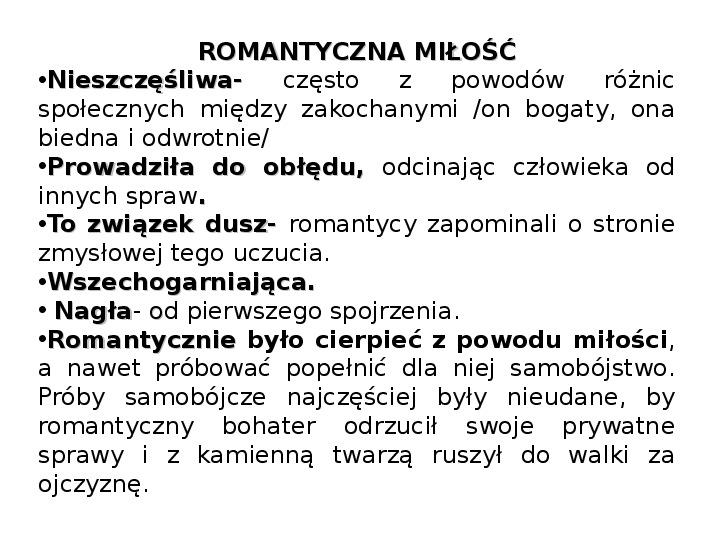 Romantyzm - Slajd 17