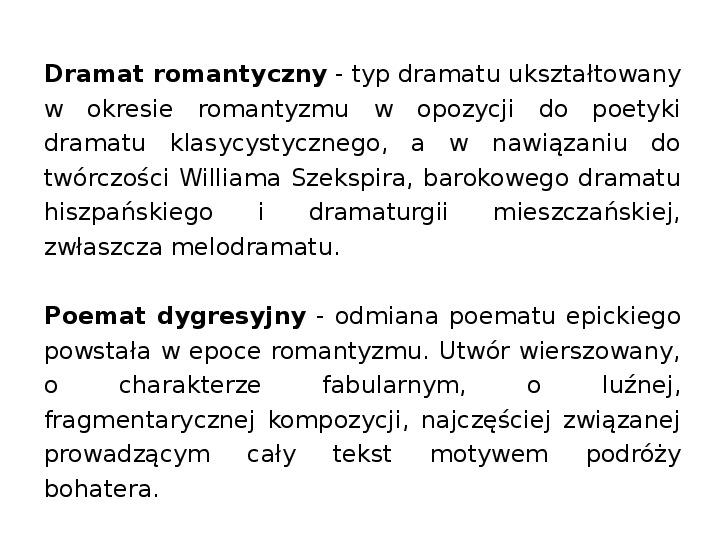 Romantyzm - Slajd 20