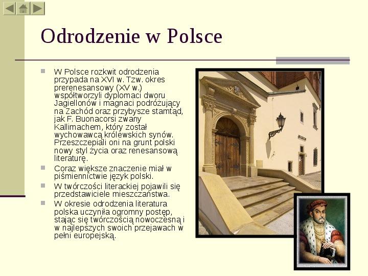 Architektura Renesansu W Polsce Prezentacja
