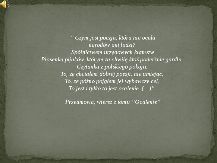 Twórczość Czesława Miłosza - Slajd 1