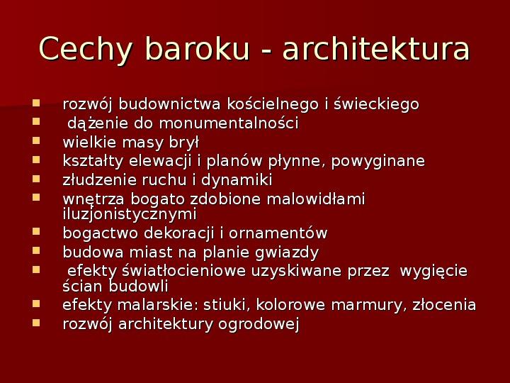 Sztuka barokowa w Polsce i Europie - Slajd 4