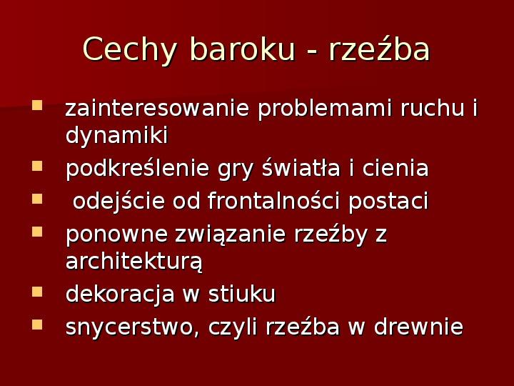 Sztuka barokowa w Polsce i Europie - Slajd 5