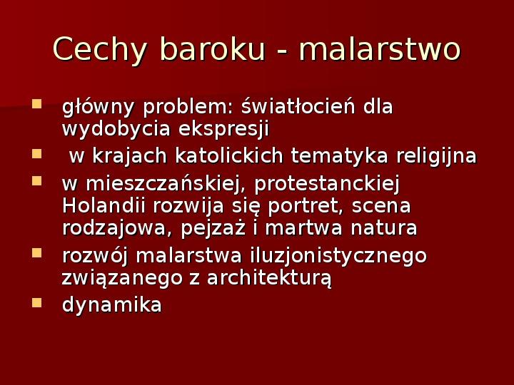Sztuka barokowa w Polsce i Europie - Slajd 6