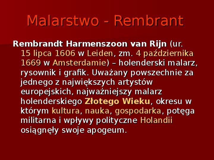 Sztuka barokowa w Polsce i Europie - Slajd 8