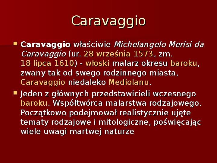 Sztuka barokowa w Polsce i Europie - Slajd 16