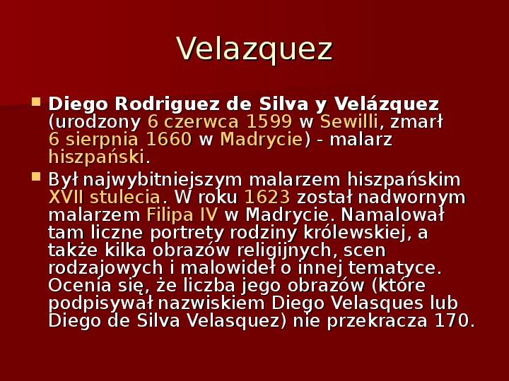 Sztuka barokowa w Polsce i Europie - Slajd 19