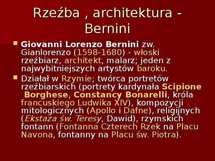 Sztuka barokowa w Polsce i Europie - Slajd 25
