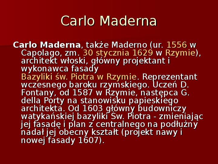 Sztuka barokowa w Polsce i Europie - Slajd 28