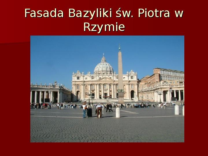 Sztuka barokowa w Polsce i Europie - Slajd 29