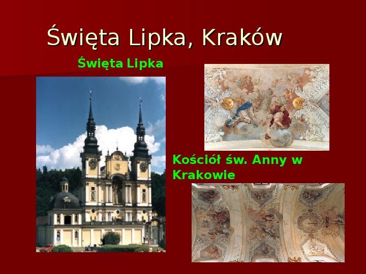 Sztuka barokowa w Polsce i Europie - Slajd 36