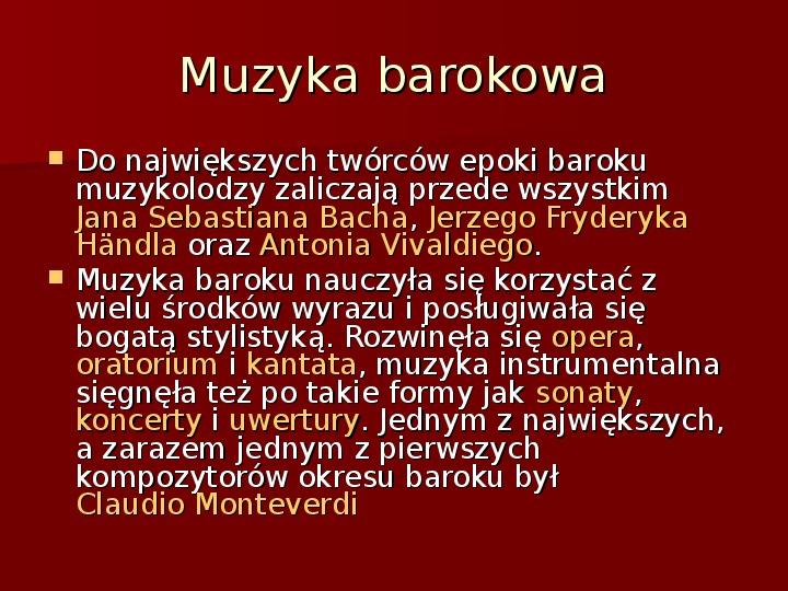 Sztuka barokowa w Polsce i Europie - Slajd 38