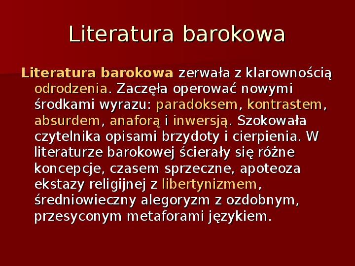 Sztuka barokowa w Polsce i Europie - Slajd 39