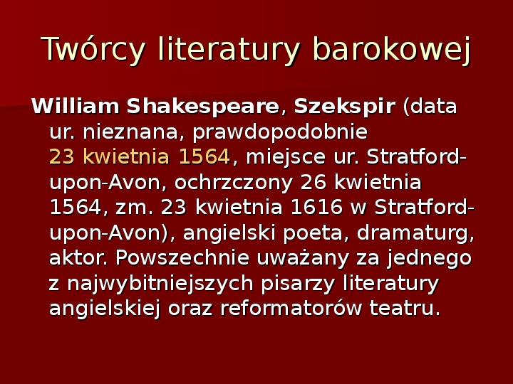 Sztuka barokowa w Polsce i Europie - Slajd 41