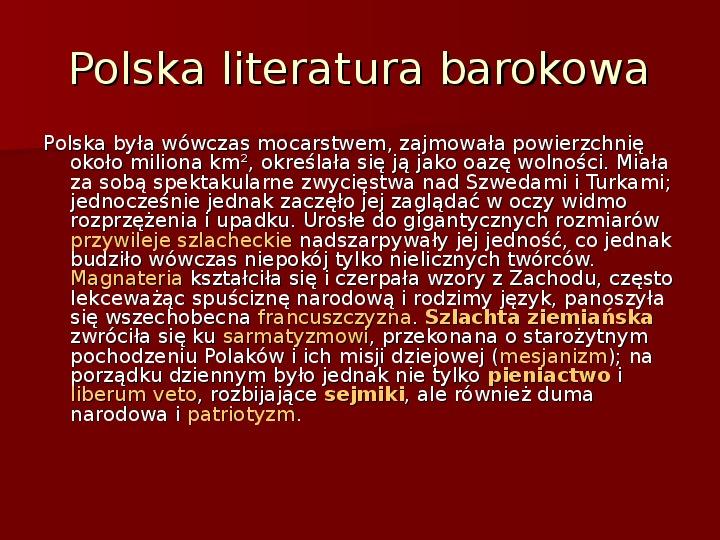 Sztuka barokowa w Polsce i Europie - Slajd 43