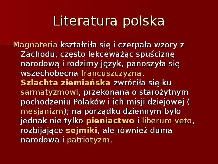 Sztuka barokowa w Polsce i Europie - Slajd 44