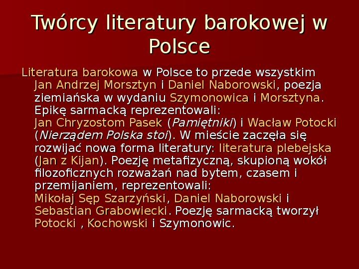Sztuka barokowa w Polsce i Europie - Slajd 45