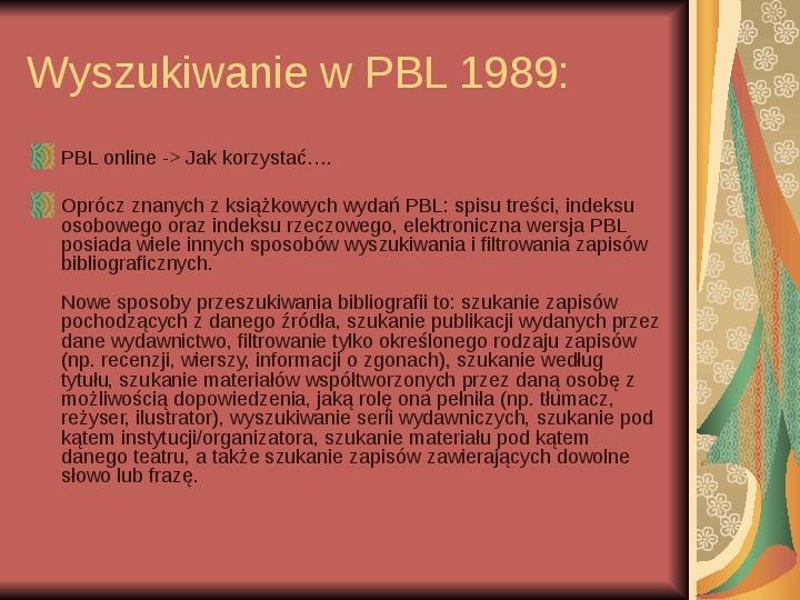 Źródła informacji z dziedziny historii literatury - Slajd 24