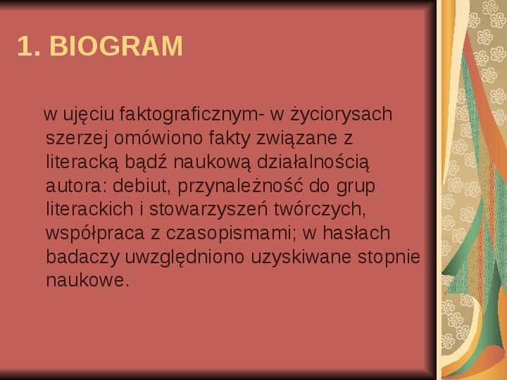 Źródła informacji z dziedziny historii literatury - Slajd 38