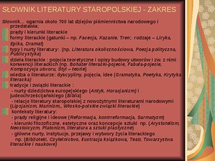 Źródła informacji z dziedziny historii literatury - Slajd 55