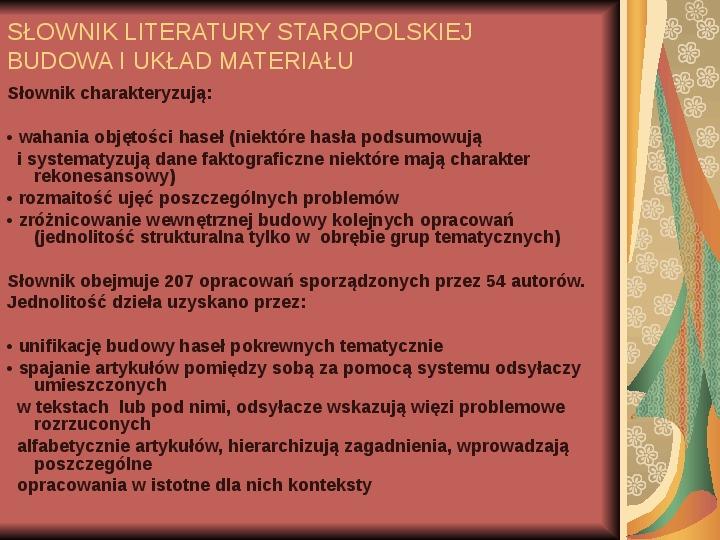 Źródła informacji z dziedziny historii literatury - Slajd 56