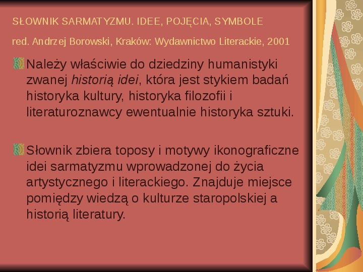 Źródła informacji z dziedziny historii literatury - Slajd 72