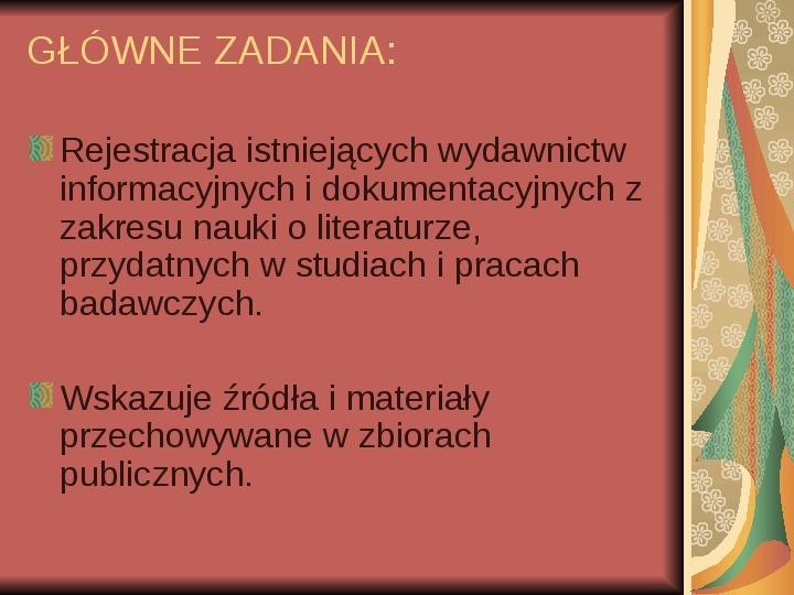 Źródła informacji z dziedziny historii literatury - Slajd 77