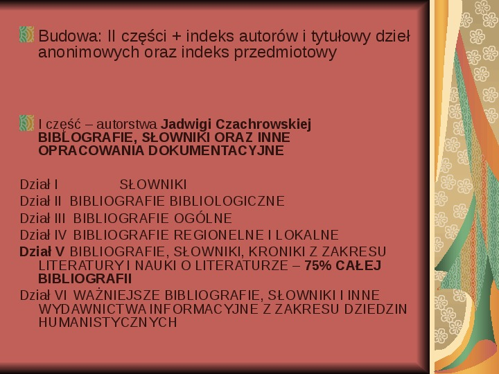 Źródła informacji z dziedziny historii literatury - Slajd 79