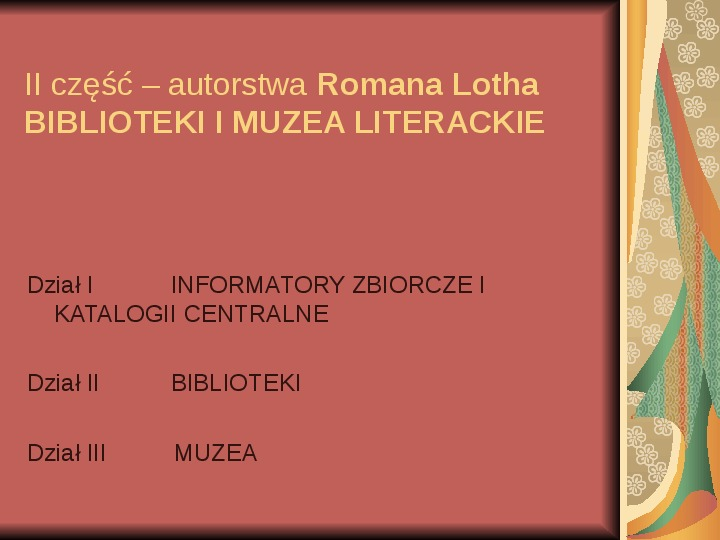 Źródła informacji z dziedziny historii literatury - Slajd 80