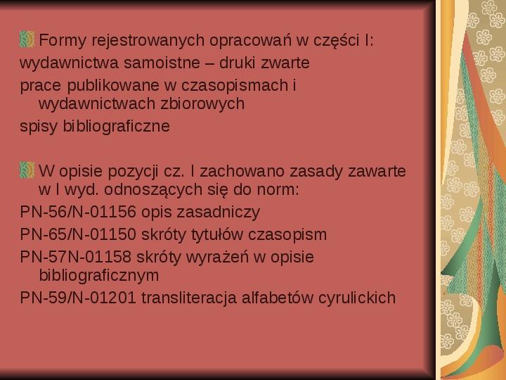 Źródła informacji z dziedziny historii literatury - Slajd 81