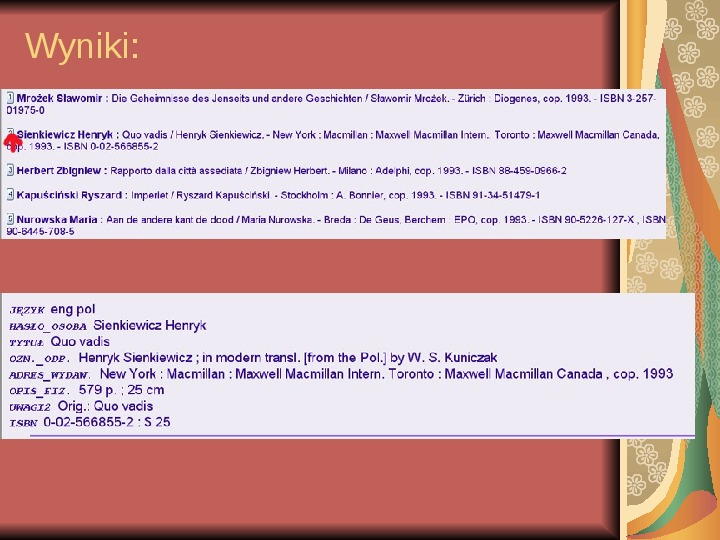Źródła informacji z dziedziny historii literatury - Slajd 88