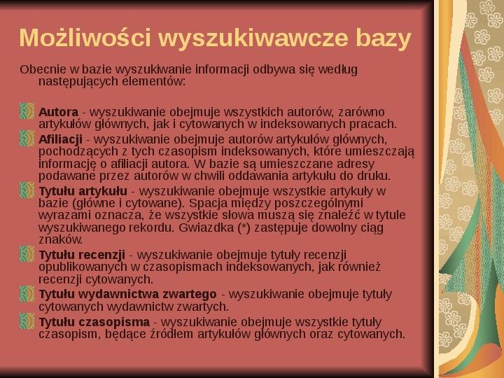 Źródła informacji z dziedziny historii literatury - Slajd 92