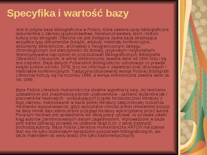 Źródła informacji z dziedziny historii literatury - Slajd 93