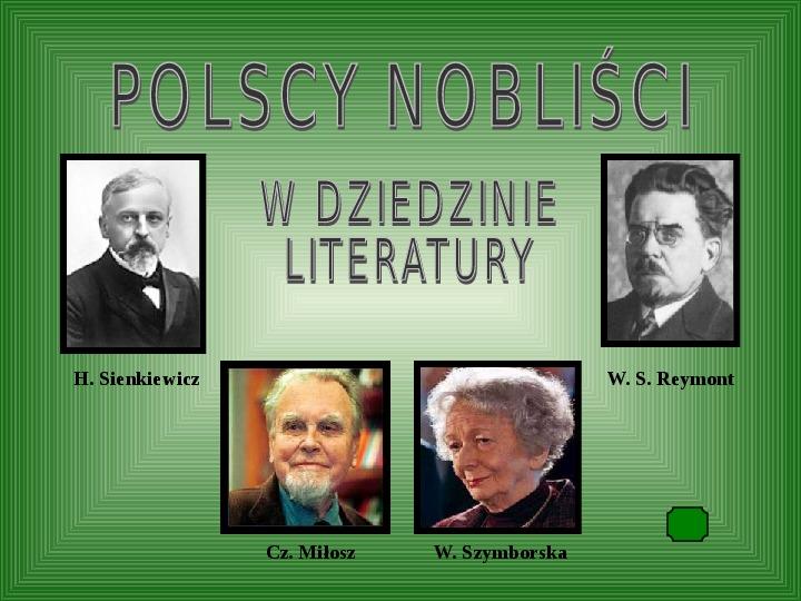 Polscy nobliści w dziedzinie literatury - Slajd 1