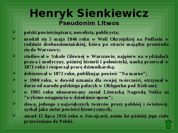 Polscy nobliści w dziedzinie literatury - Slajd 2