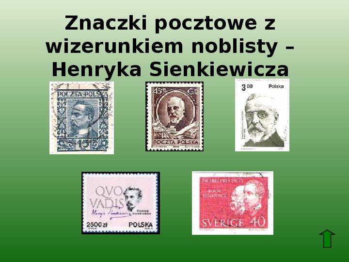 Polscy nobliści w dziedzinie literatury - Slajd 9
